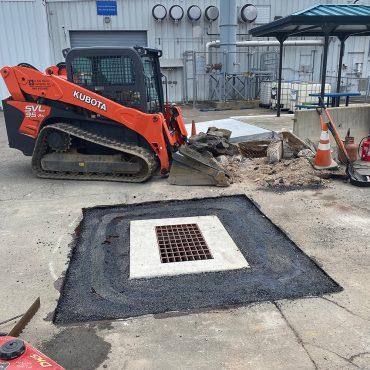 doosan parking lot catch basin