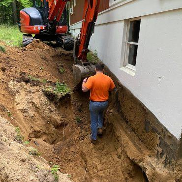foundation drainage storrs ct