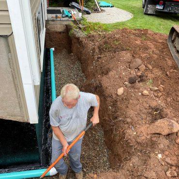 foundation drain install vernon